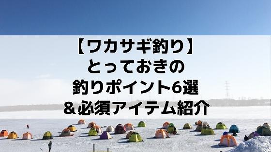 【ワカサギ釣り】札幌、石狩とっておきのポイント6選&必須アイテム
