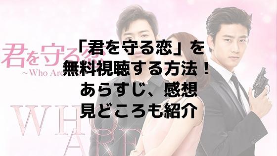 「君を守る恋~Who are you~」の動画を無料視聴する方法!あらすじ、感想、見どころも紹介